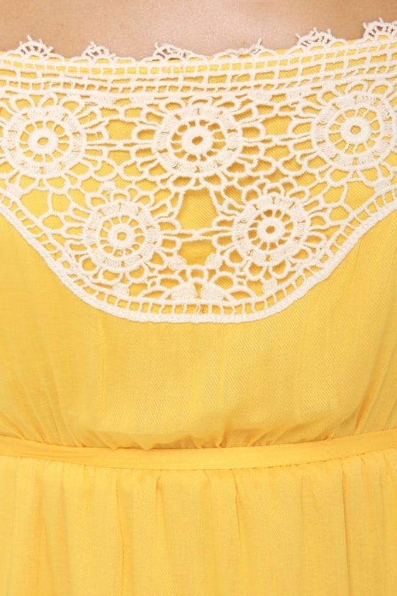 Tulle Tally Me Banana Yellow Dress