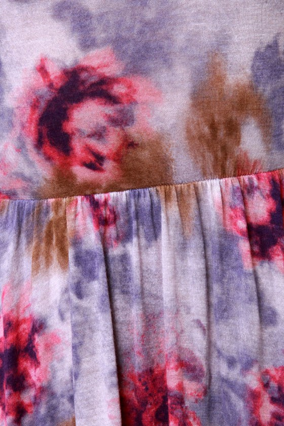 Wildflower Hunt Purple Floral Print Dress