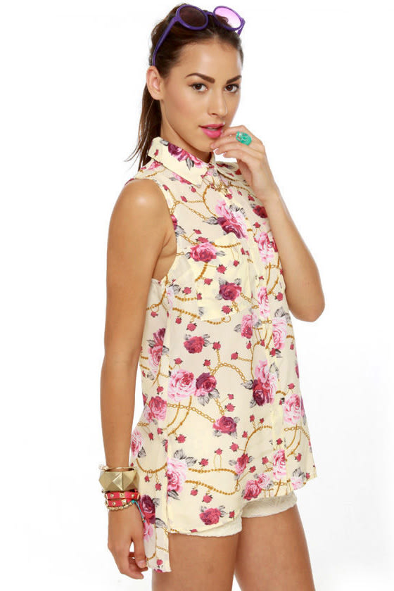 Rosie the Ravishing Floral Print Top