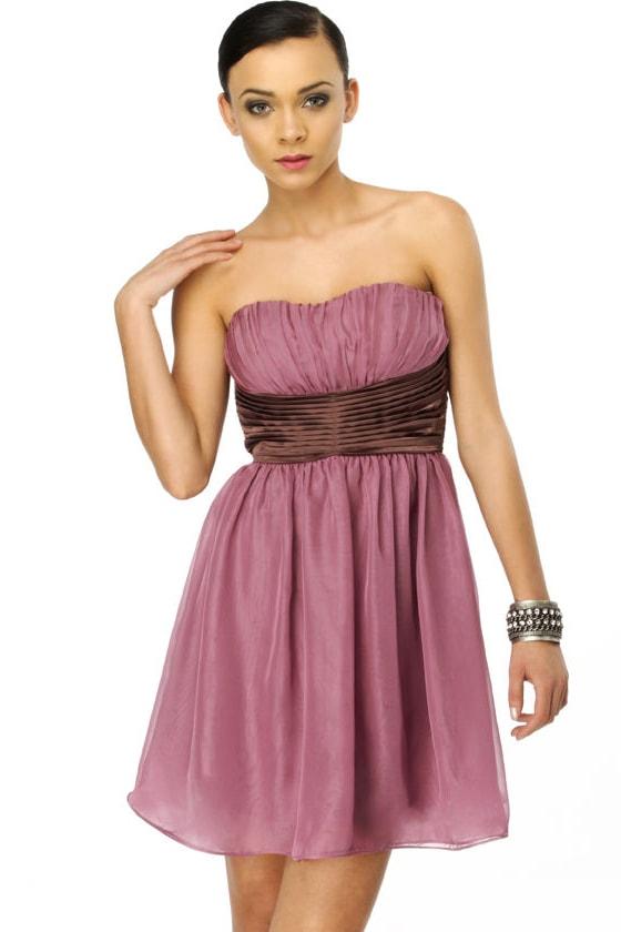 Raspberry Tart Strapless Purple Dress