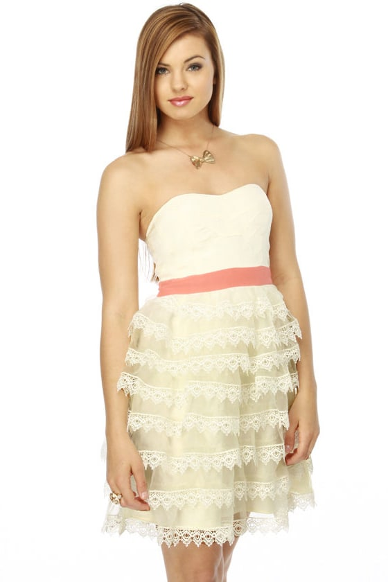 Layer Cake Silk White Dress
