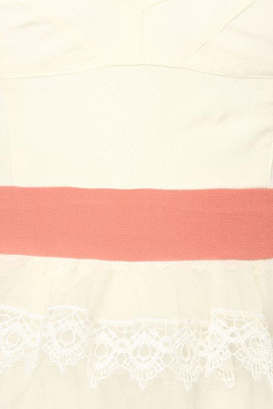Layer Cake Silk White Dress
