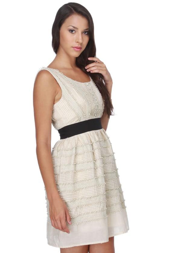 Cupcake Stand Cream Lace Dress