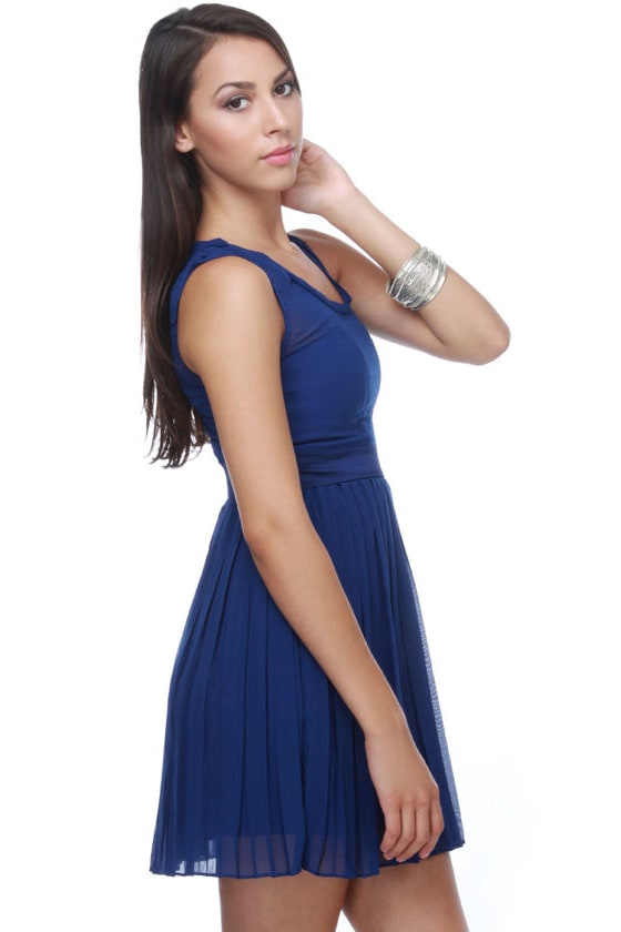Classy Chassis Blue Dress