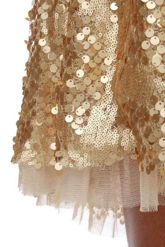 Gold-Blinger Sequin Dress