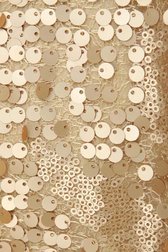 Gold-Blinger Sequin Dress