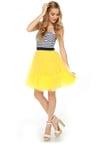 3ea8e73ca7 Cute Strapless Dress - Striped Dress - Yellow Dress -  83.00