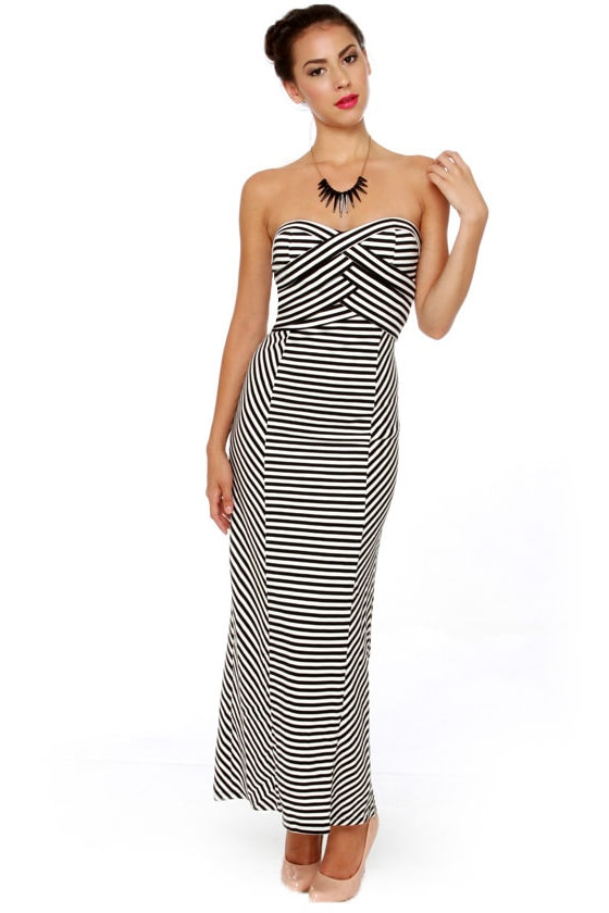 Strapless Stripe Maxi Dress is rated out of 5 by Rated 5 out of 5 by spyhunter52 from Stunning dress! I got this as a replacement for another maxi dress (Racer Stripe Maxi dress with red and tan stripes) which shrunk 3 inches in length after I washed it once according to the care tag/5(22).