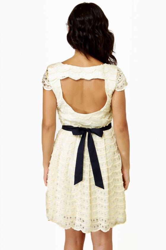 Moonbeams in a Jar Cream Lace Dress