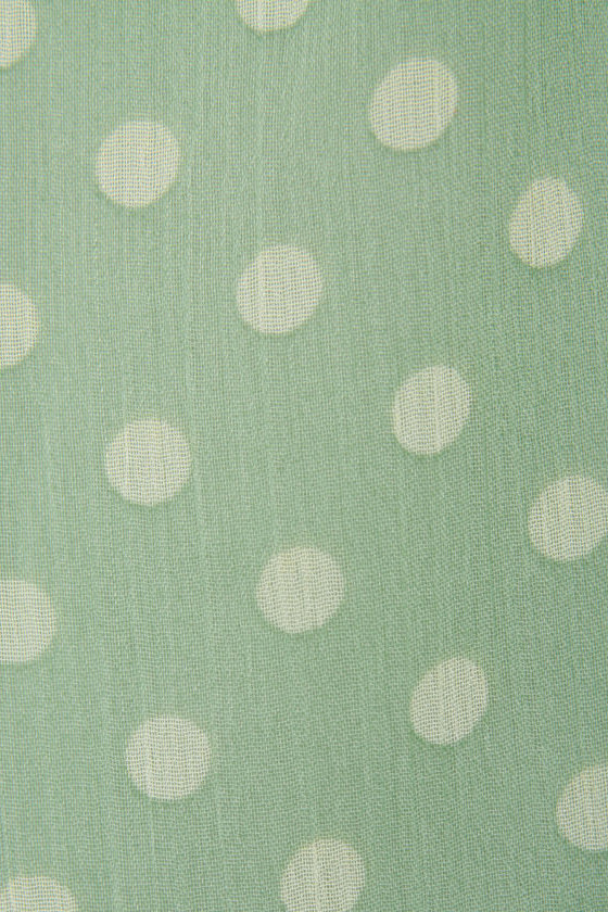 Courtney's Comeback Mint Green Polka Dot Dress