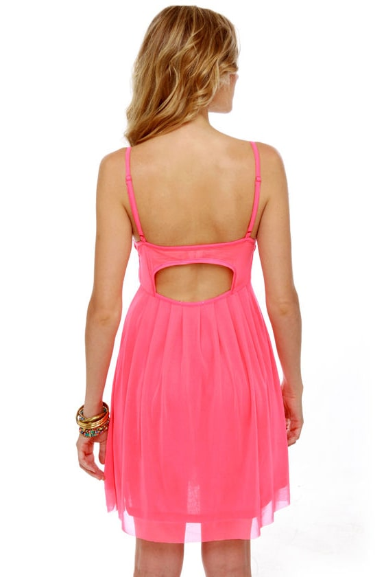 Glow Stick Shift Neon Pink Dress at Lulus.com!