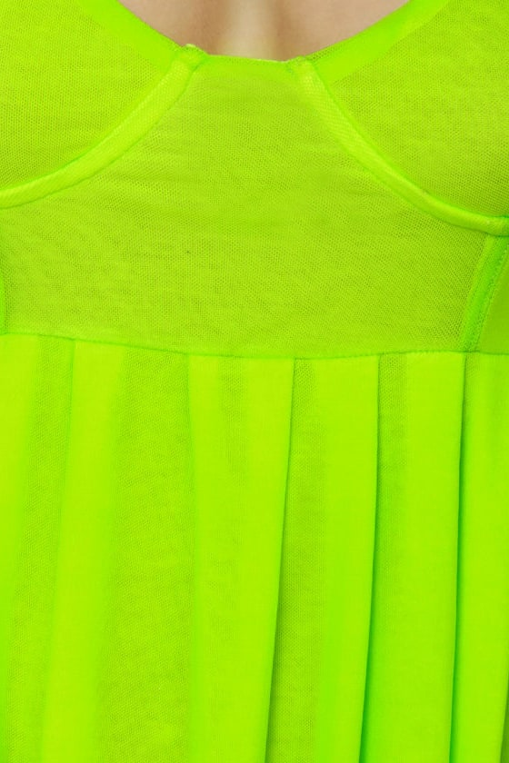 Glow Stick Shift Neon Yellow Dress at Lulus.com!
