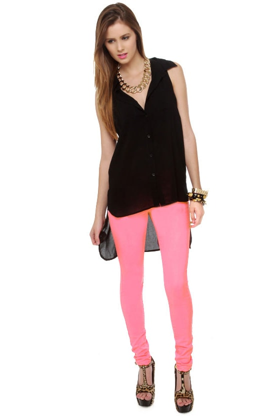 Candy Lass Neon Pink Skinny Jeans