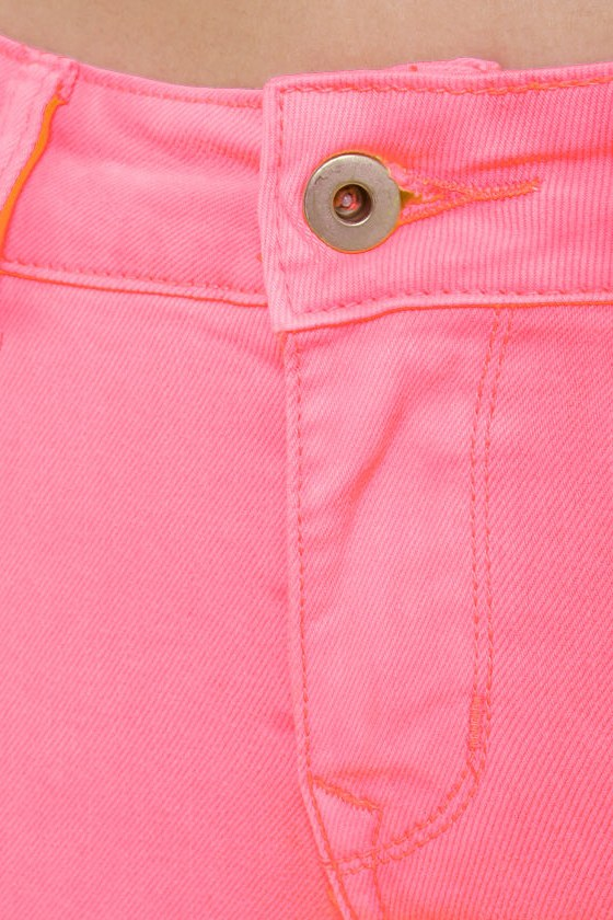Candy Lass Neon Pink Skinny Jeans at Lulus.com!