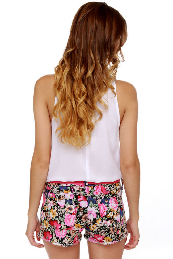 Mission Street Floral Print Shorts