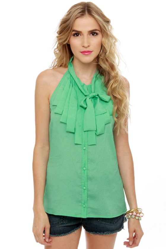 Dapper Dobbins Mint Green Top at Lulus.com!