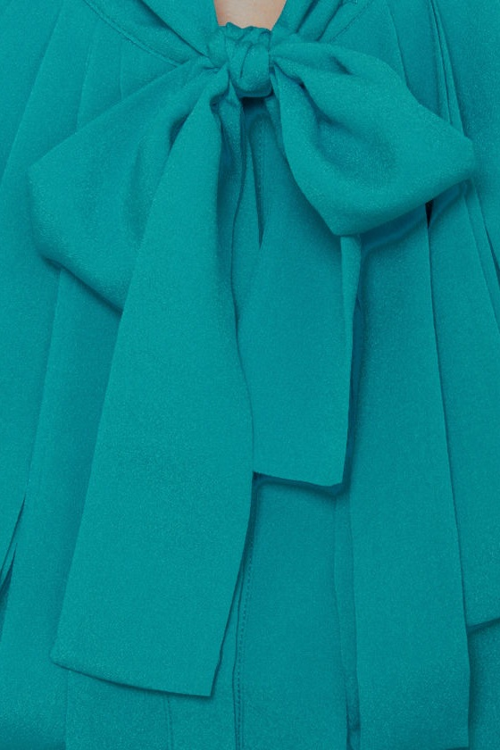 Dapper Dobbins Turquoise Top