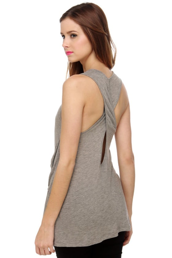 Pocket Aces Grey Tank Top