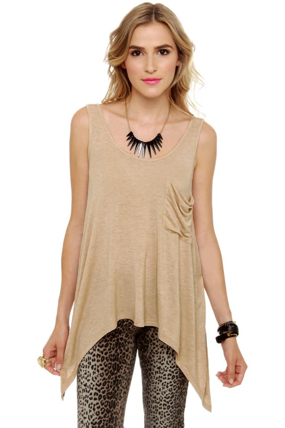 Baker Girl Beige Tank Top