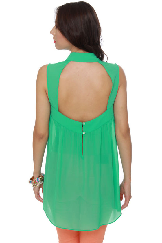 Just Desserts Mint Green Tunic Top