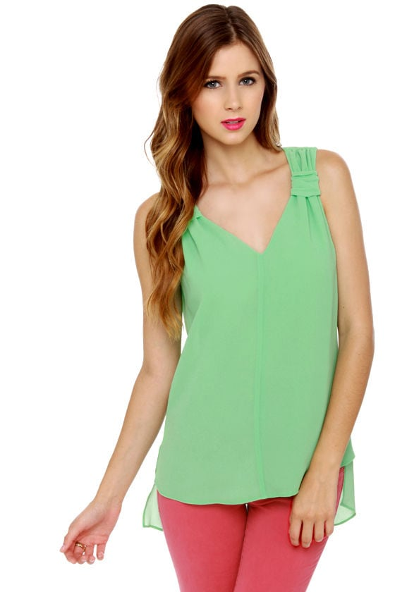 On the Rise Mint Green Tank Top