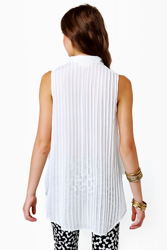 The Ethereal McCoy Sheer Ivory Top at Lulus.com!