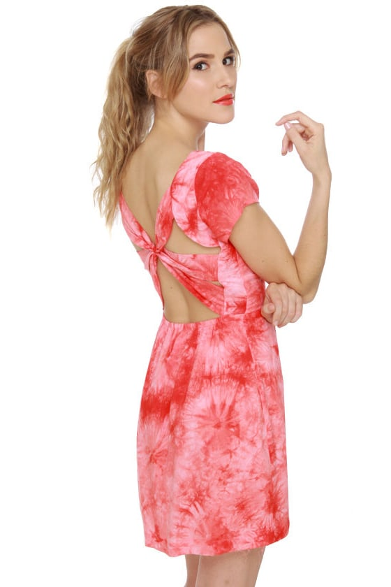 Dye-namite Red Tie-Dye Dress