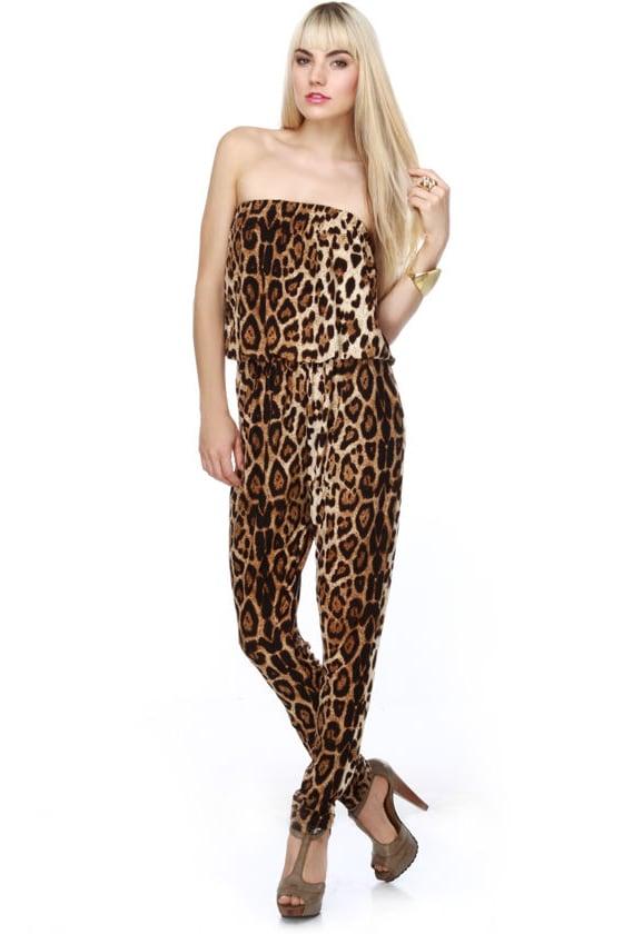 Sexy Leopard Print Jum...