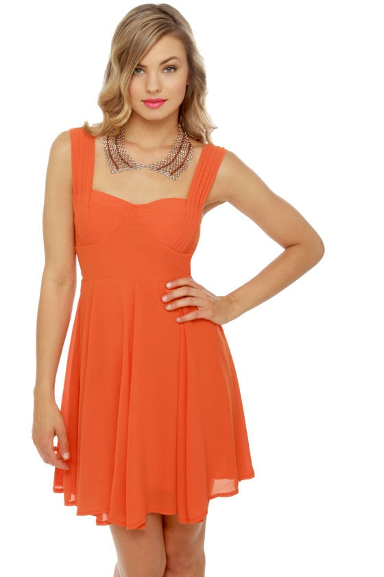 Barbara of Seville Orange Dress at Lulus.com!