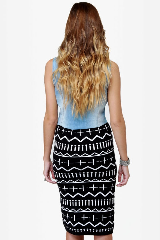 Get a Glyph Black Pencil Skirt