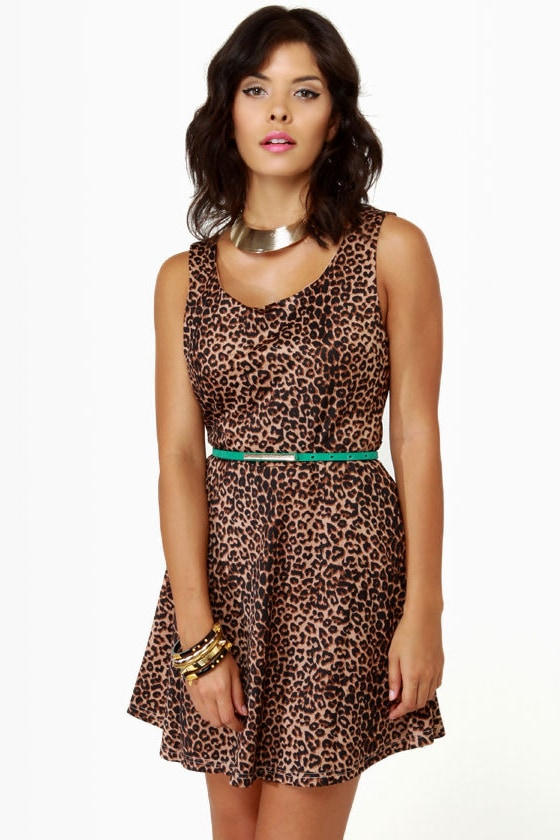 Meow-sterpiece Theatre Leopard Print Dress