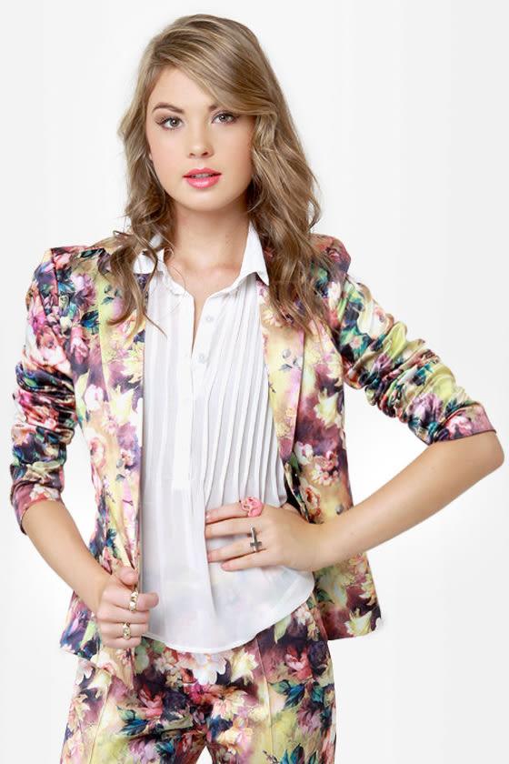 Still Life Skills Floral Print Blazer