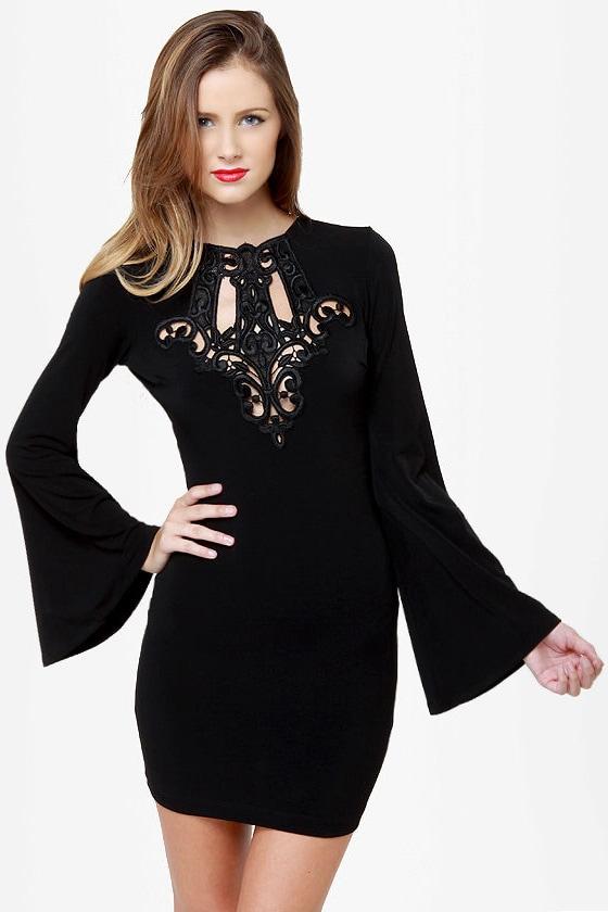One Rad Girl Natalia Backless Black Dress