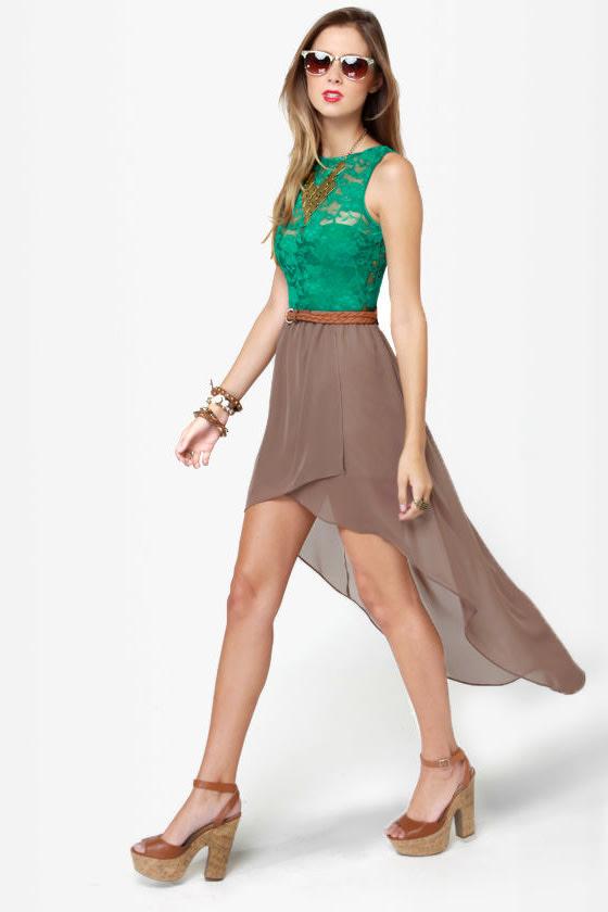 cc7cb12f5a23 One Rad Girl Avery Romper - Green Bodysuit - Lace Bodysuit - $64.00