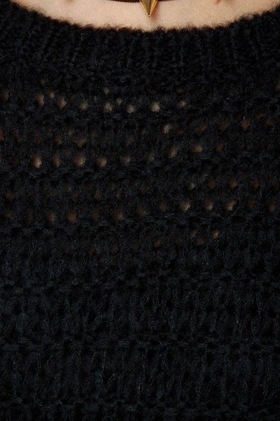 Olive & Oak Knit-re Dame Black Sweater
