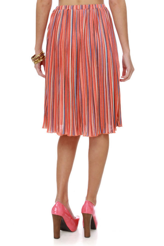 O'Neill How Bizarre Orange Print Skirt at Lulus.com!