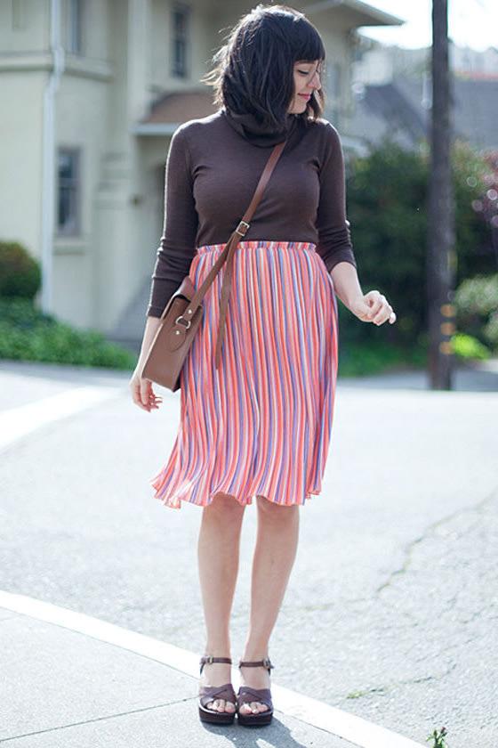 O'Neill How Bizarre Orange Print Skirt