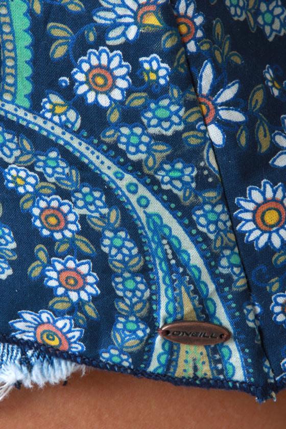 O\\\\\\\'Neill Love Struck Blue Paisley Print Tank Top