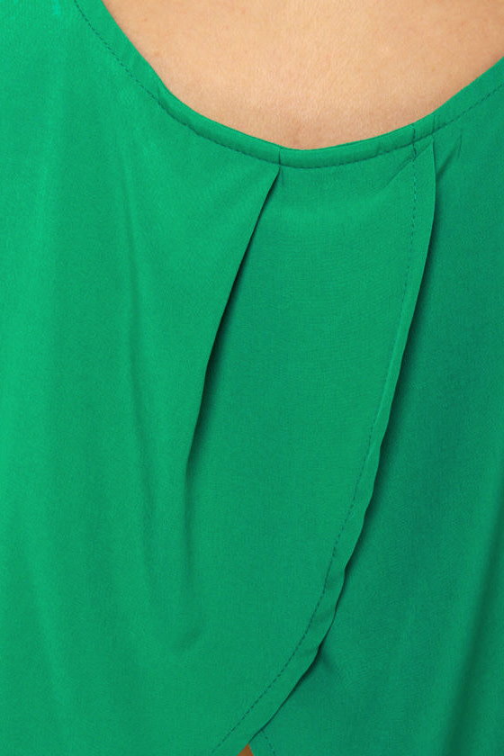 Finishing Touch Sleeveless Green Dress