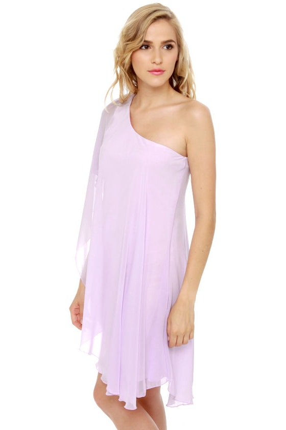 Pastel-ivision One Shoulder Lavender Dress at Lulus.com!