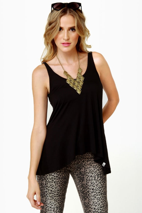 Obey Heartbreaker Black Tank Top at Lulus.com!