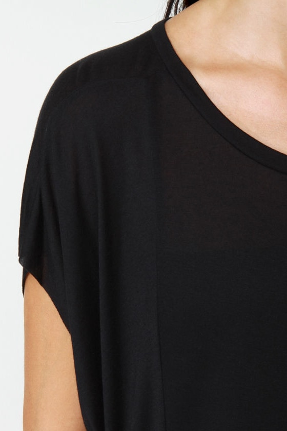 Obey Straight Line Knit Black Tee