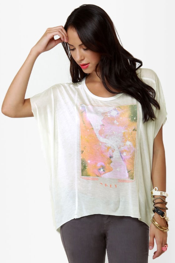 Obey Star Dust Print White Tee at Lulus.com!