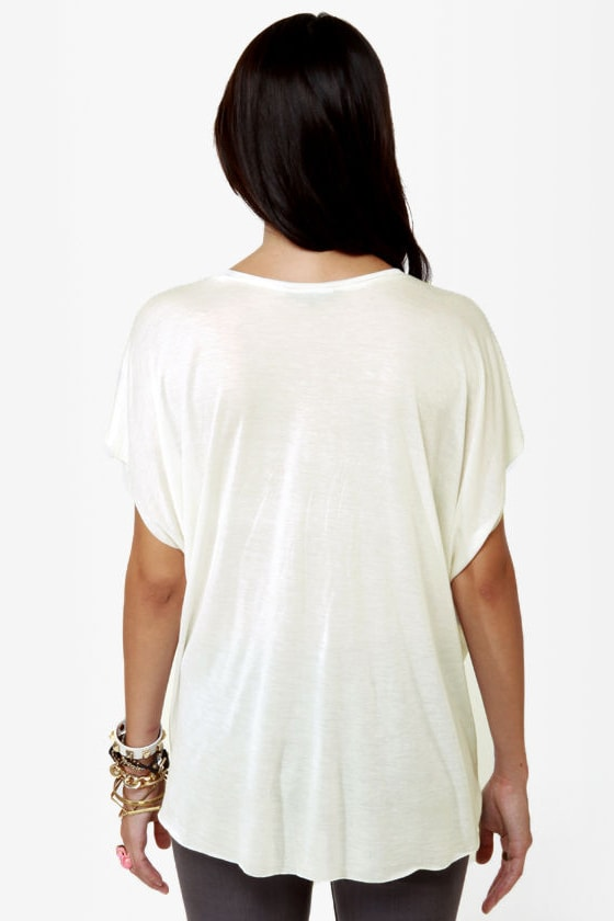 Obey Star Dust Print White Tee