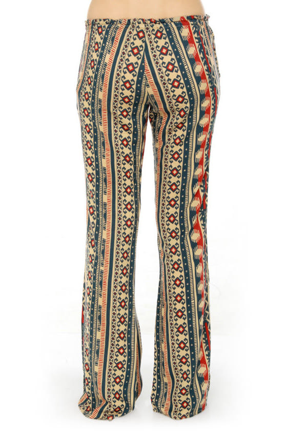 Obey Wanderer Bell Bottom Print Pants