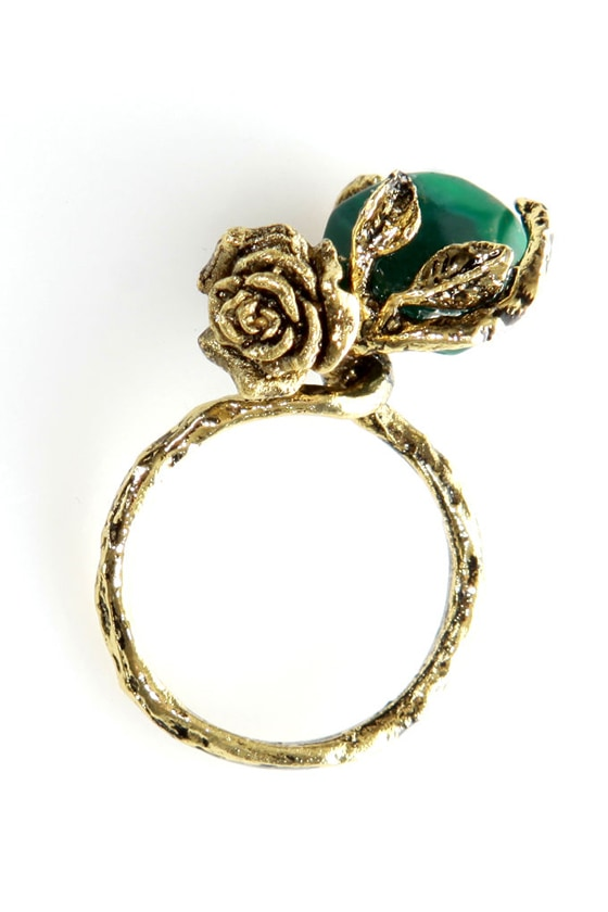 Obey Stone Rose Gold Ring at Lulus.com!