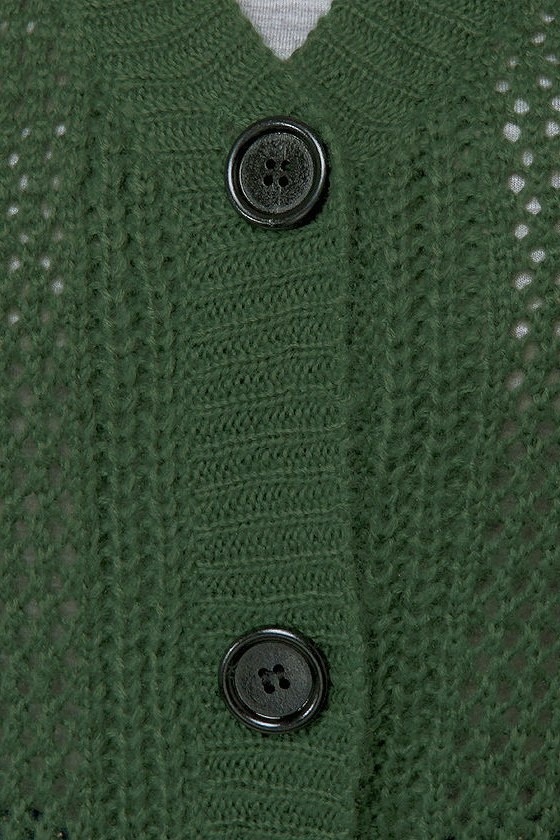 Cardi Hearty Green Cardigan Sweater
