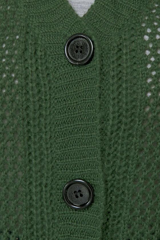 Cardi Hearty Green Cardigan Sweater