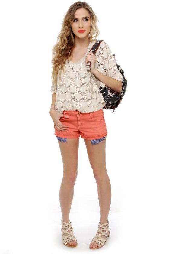 Quiksilver Breezer Coral Cutoff Jean Shorts