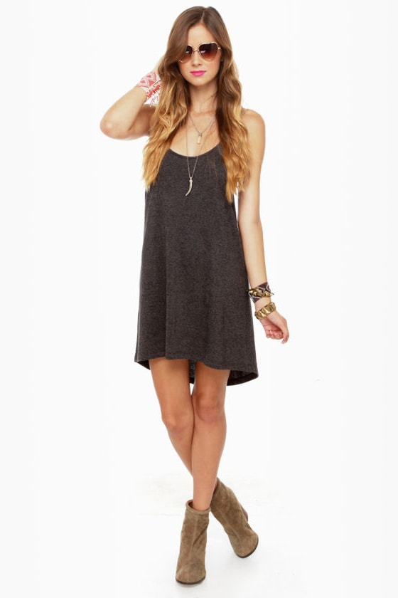 RVCA Get Born Grey Tank Dress at Lulus.com!